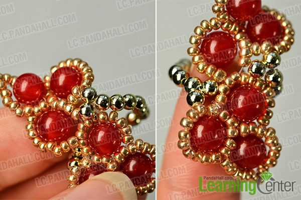 Complete the beaded ring