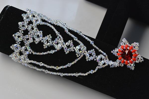 final look of the bling beaded slave bracelet