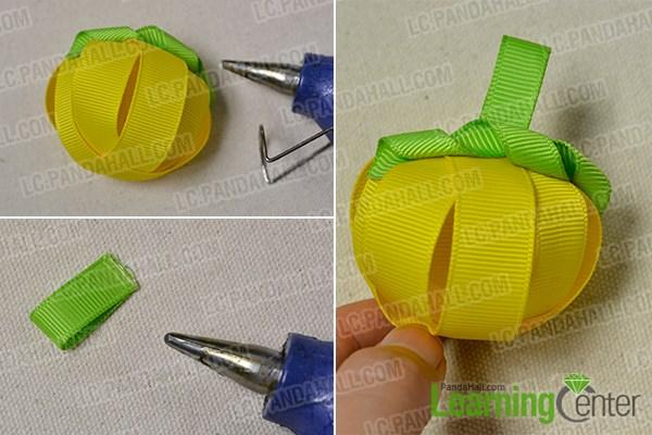 Add green ribbons