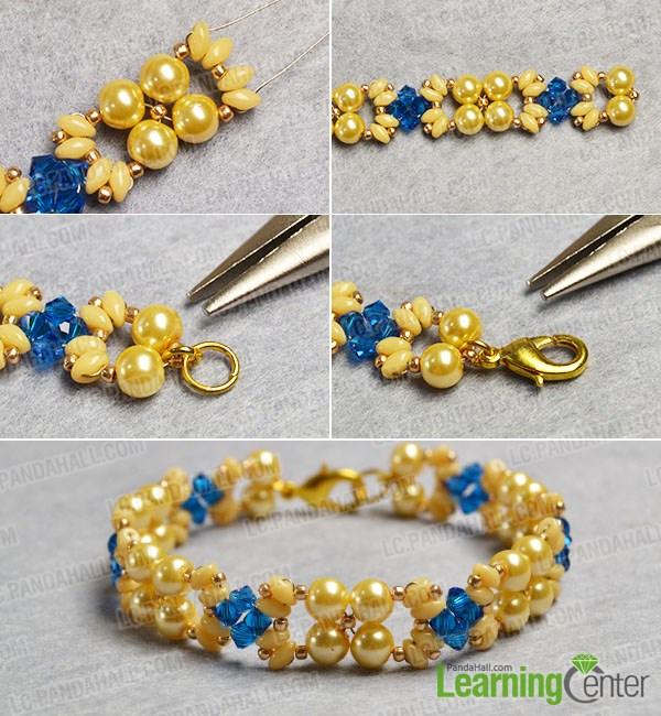Complete the beaded 2-strand bracelet
