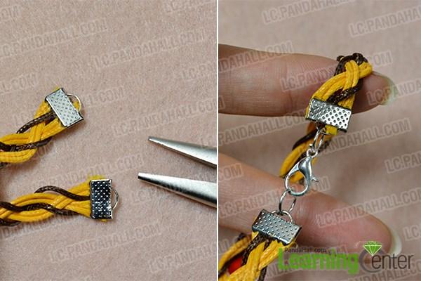 Finish the braided bracelet