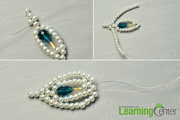 make the second part of the beaded butterfly brooch