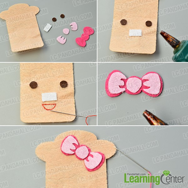 make the third part of the felt couple card holders