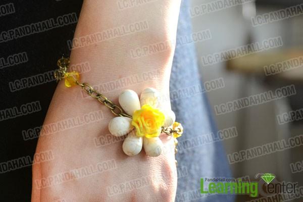 finished chain link bracelet