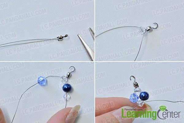 make a blue necklace