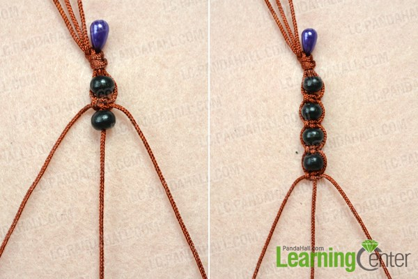 Weave the DIY wooden bead necklace