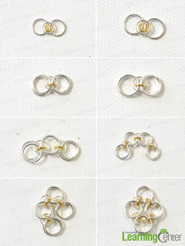 Step 1: Prepare the jumprings part of the pendant earrings