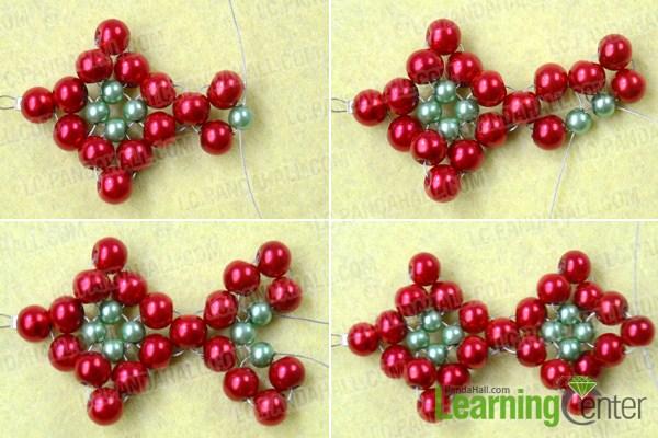 make basic beaded Christmas bracelets