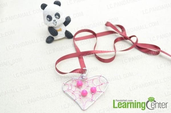finished heart pendant necklace