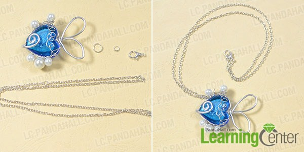make the rest part of the blue fish pendant necklace