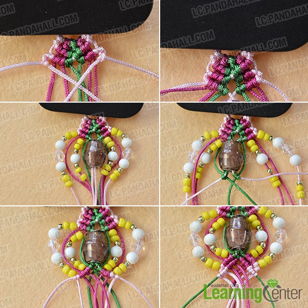 make the third part of the thread braided earrings