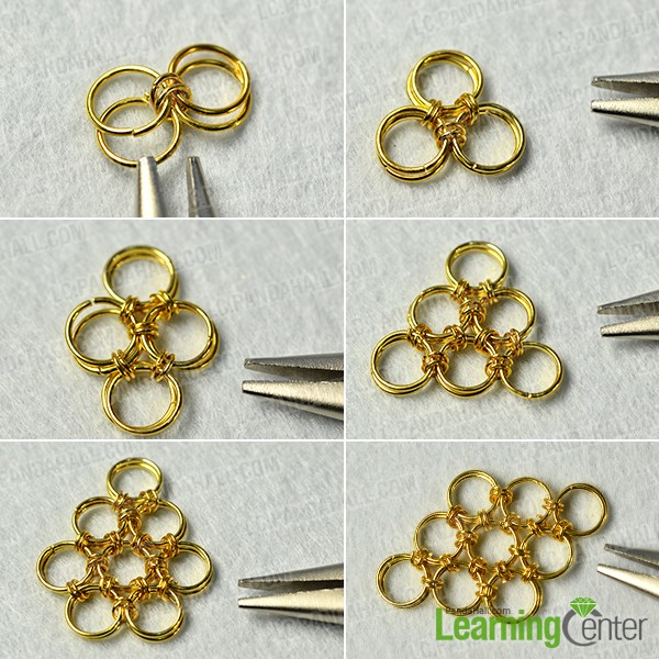 Make a jump rings pattern