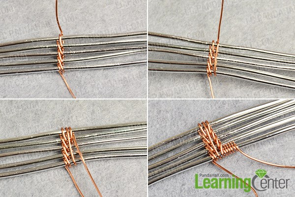Complete the first wire wrapped pattern