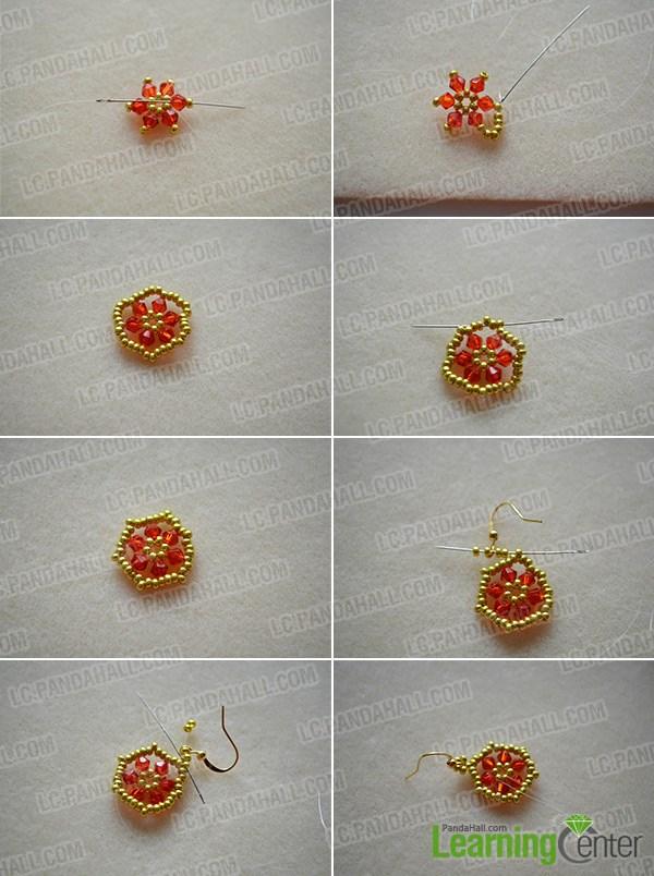 How to Make Hexagon Bead Earrings at Home for Christmas ...