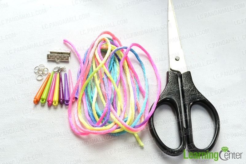 Things you will need in the easy braided bracelet