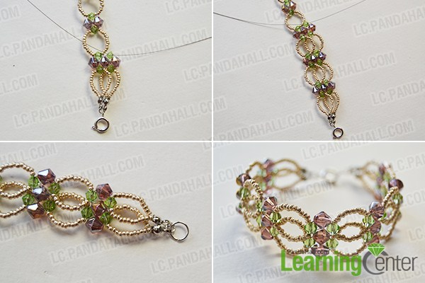 make the rest part of the seed and glass bead flower bracelet