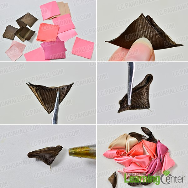Step 1 Make The Petals Of Flower Hair Comb