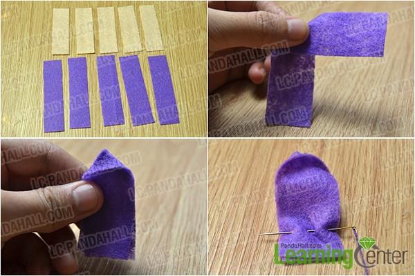 make a purple petal