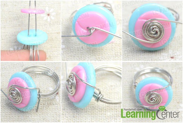 make embellishment of button ring