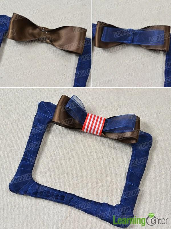 Add ribbon bow ornament
