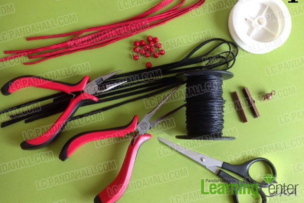 Necessities for multi strand leather bracelet: