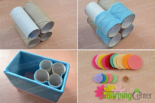 Organize the recycled paper rolls