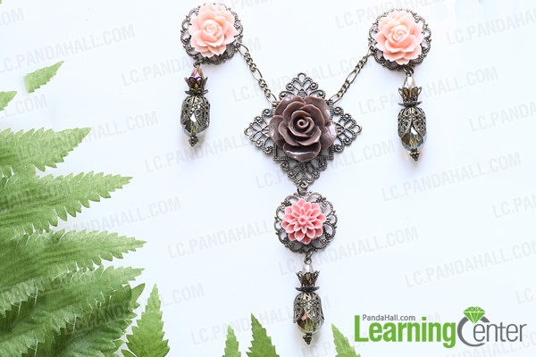Making flower pendant
