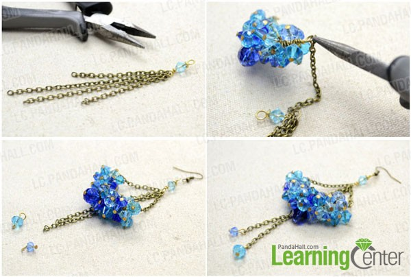 Assemble the dangle crystal earring