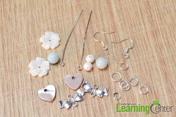 materials and tools for making simple beaded dangle earrings