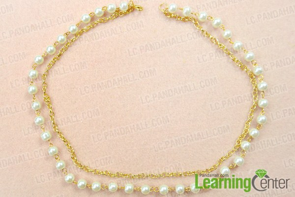 Finish pearl chain necklace designs