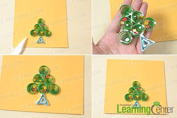 Stick Christmas tree to the card