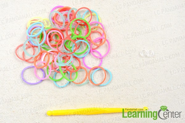 Materials on how to make a loom flower bracelet