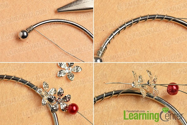 make the first part of the silver flower bangle bracelet