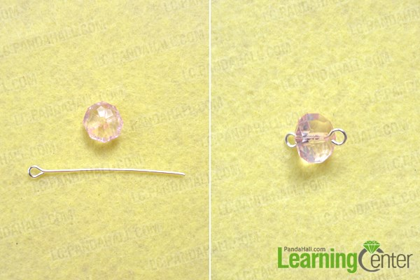 Finish the butterfly wing earrings