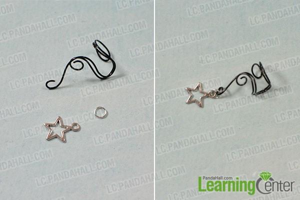 Attach the star bead dangle