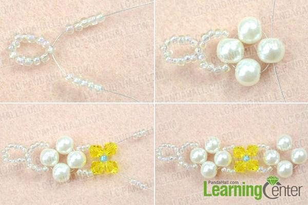 Instruction on how to make crystal bracelet