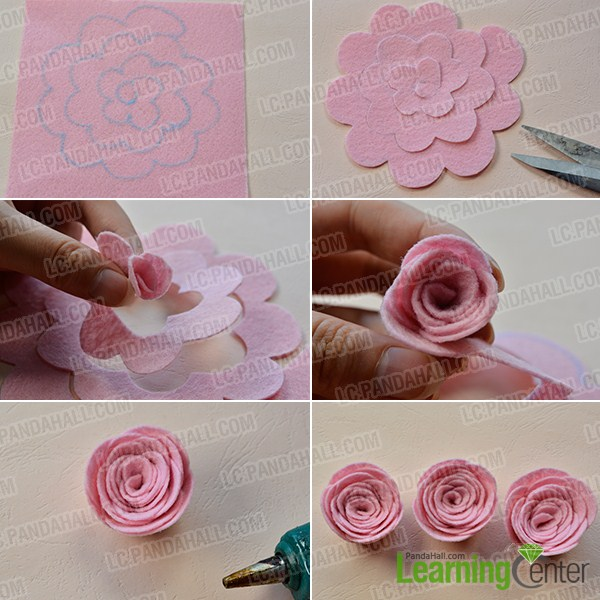 make three pink roses