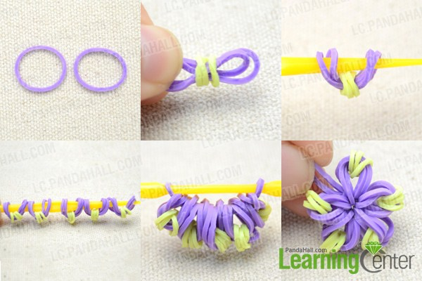 Flower Loom Bands Easy - Flowers Ideas