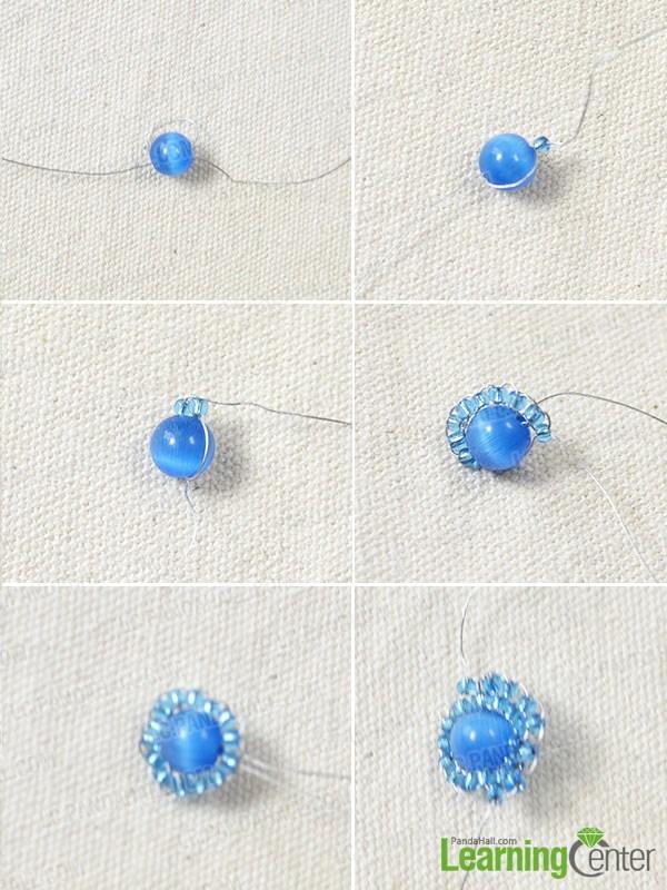 make a bead flower