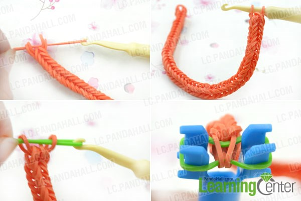 Make the rest of the twisty loom bracelet