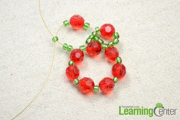 keep adding beads and making bead loop
