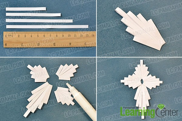 make a white quilling paper cross2