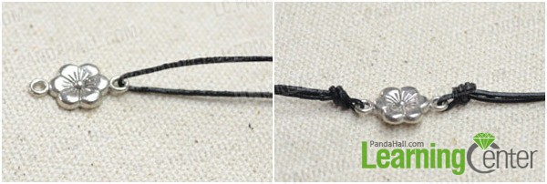 Step 1: Combine leather cord with connector