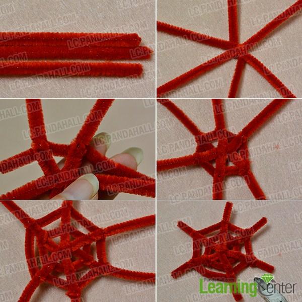 Make a red round chenille sticks part