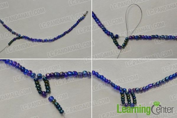 Make green seed beads patterns