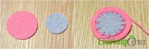 make simple embroidery on felt