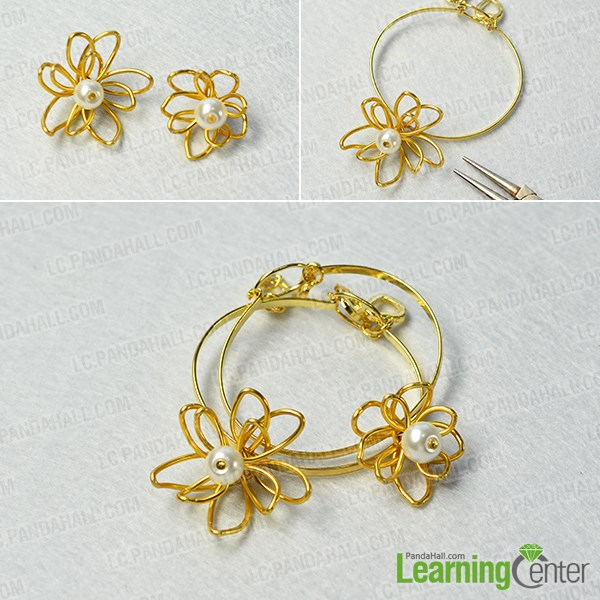 Finish these simple wire bracelets