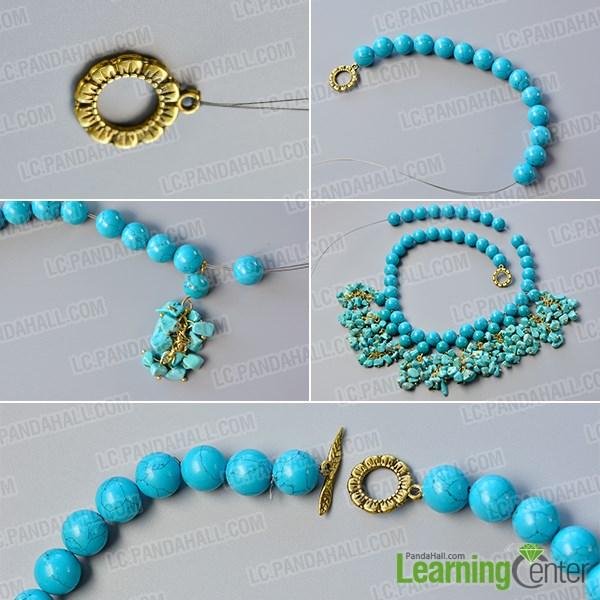 Finish this simple bib necklace