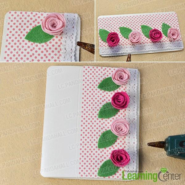 Finish the lovely roses gift card
