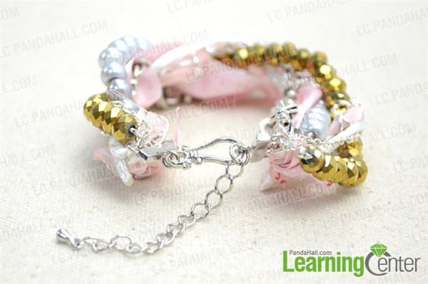 finish the multi strand braided bracelet